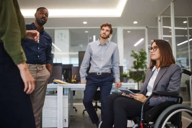 How can employers create a more inclusive interview process for people with disabilities?